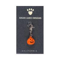 Susan Lanci Jack-o-Lantern Bell Collar Charm