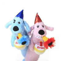 Birthday Loofa Dog Toys