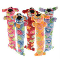 Pink Ribbon Loofa Dog Toys