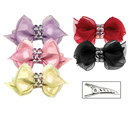 Crystal Centered Dog Bow