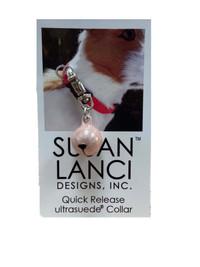 Susan Lanci Pink Halo Collar Bell