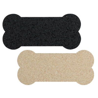 Skinny Recycled Rubber Bone Dog Placemats