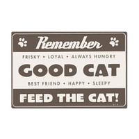 Remember to Feed the Cat Foam Rubber Placemat