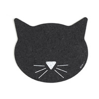Recycled Rubber Cat Face Placemat
