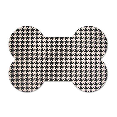 Houndstooth Bone Foam Rubber Placemat