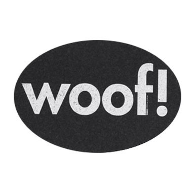 Recycled Rubber Oval Woof Placemat