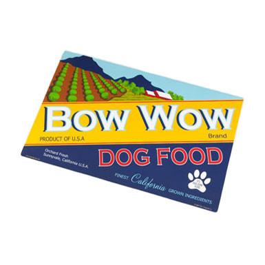 Vintage Pet Bow Wow Dog Placemat