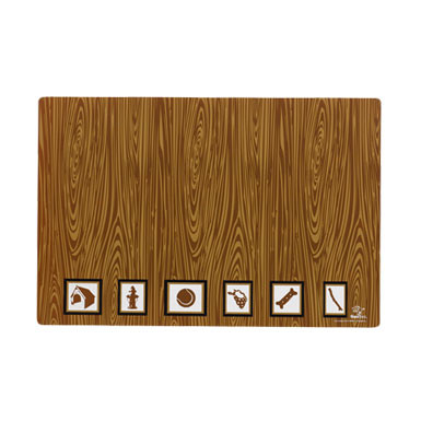 Plywood Picture Wood Grain Dog Placemat