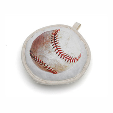 Recycled Canvas Baseball Dog Toy