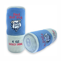 Red Bulldog Energy Drink Dog Toy