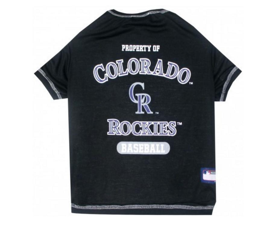 new arrival e9317 38fdf Colorado Rockies Dog T-Shirt