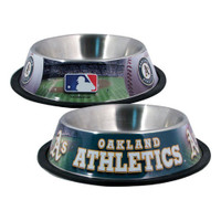 Oakland Athletics Stainless Steel Dog Bowl