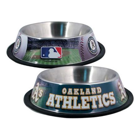 Oakland Athletics Stainless Steel Dog Bowl