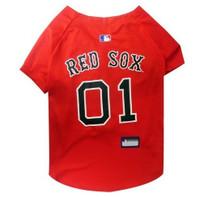 Boston Red Sox V-Neck Dog Jersey