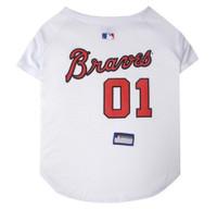 Atlanta Braves V-Neck Dog Jersey