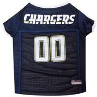Los Angeles Chargers Dog Jersey - White Trim