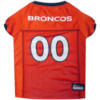 Denver Broncos Dog Jersey - Orange Trim