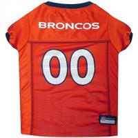 Denver Broncos Dog Jersey - Orange Trim