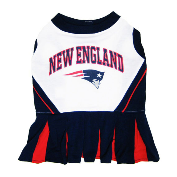 Discount New England Patriots Cheerleader Dog Dress  hot sale