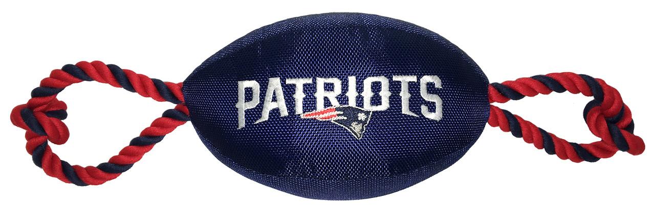 brand new 3e3b4 be6bc New England Patriots Nylon Football Dog Toy