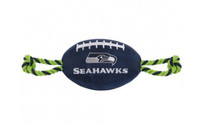 Seattle Seahawks Nylon Football Dog Toy