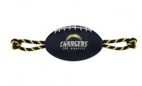 Los Angeles Chargers Nylon Football Dog Toy