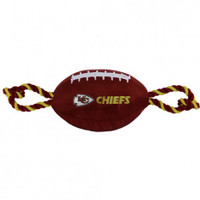 Kansas City Chiefs Nylon Football Dog Toy
