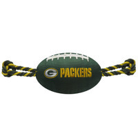 Green Bay Packers Nylon Football Dog Toy