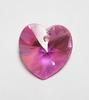 Swarovski crystal heart used.  It is AB Rose (Aurora Borealis, 18X17.5mm)