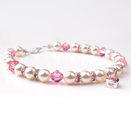 Oscar Newman Pretty in Pink Pearl Necklace