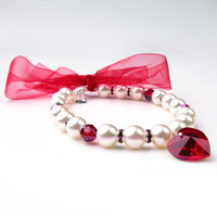 Oscar Newman Strawberries and Cream Pearl Necklace