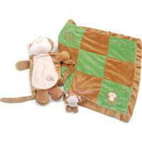 Oscar Newman Sleep Over Monkey Blanket and Toy Set