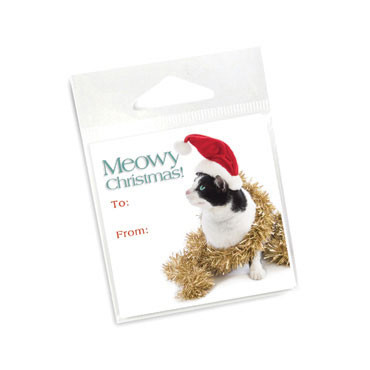 Meowy Christmas Holiday Gift Tags
