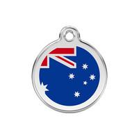 Australian Flag Stainless Steel Enamel ID Tag