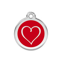 Tribal Heart Stainless Steel Enamel ID Tag