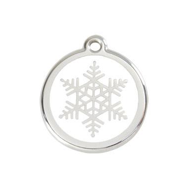 Snow Flake Stainless Steel Enamel ID Tag