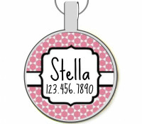 Pretty Moroccan Silver Pet ID Tags