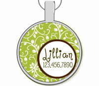 Garden Party Silver Pet ID Tags
