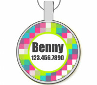 Pixels Silver Pet ID Tags