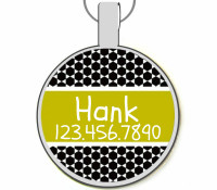 Modern Moroccan Silver Pet ID Tags