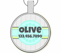 Beach House Silver Pet ID Tags