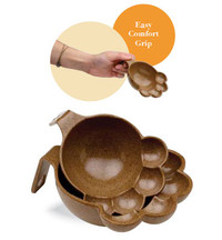 Eco Bamboo Paw Pet Food Scoop