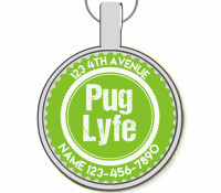 Pug Lyfe Silver Pet ID Tags