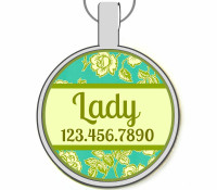 Mint Garden Silver Pet ID Tags