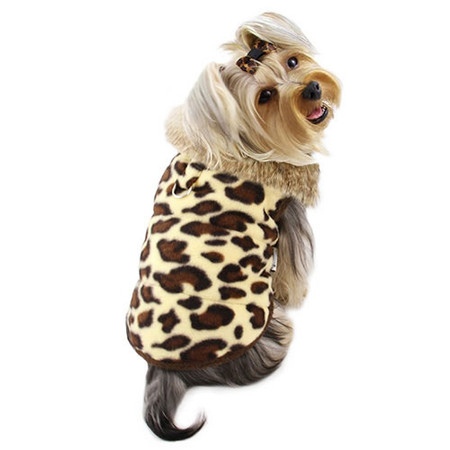 Leopard Fleece Vest