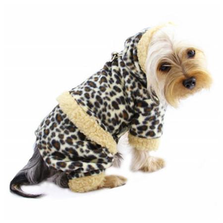 Hooded Leopard Fleece Bodysuit