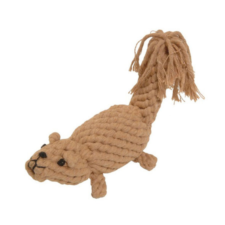 Boomer Squirrel Rope Dog Toy