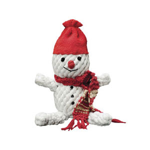 Snowman Rope Dog Toy