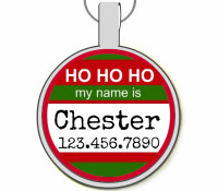 Ho Ho Ho My Name Is... Silver Pet ID Tags