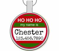 Ho Ho Ho My Name Is... Silver Pet ID Tags